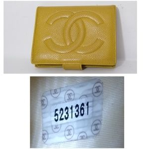 Authentic Chanel Caviar Leather Small Wallet
